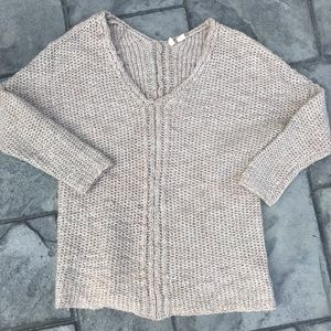 Anthro. Moth Cable Knit Sweater Size XS